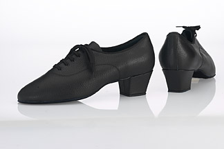 Typical men's Latin dance shoes.