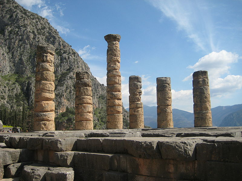 The remaining columns of the Temple of Apollo at Delphi. Read more about Delphi at Wikipedia.Photo by Patar Knight