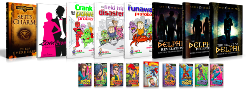 Some of my books for young reluctant and struggling readers.