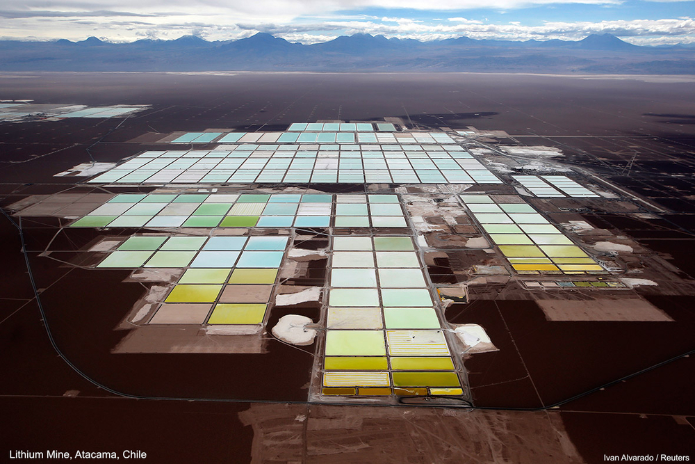 Lithium Mine, Atacama, Chile  Photo: Ivan Alvarado, Reuters