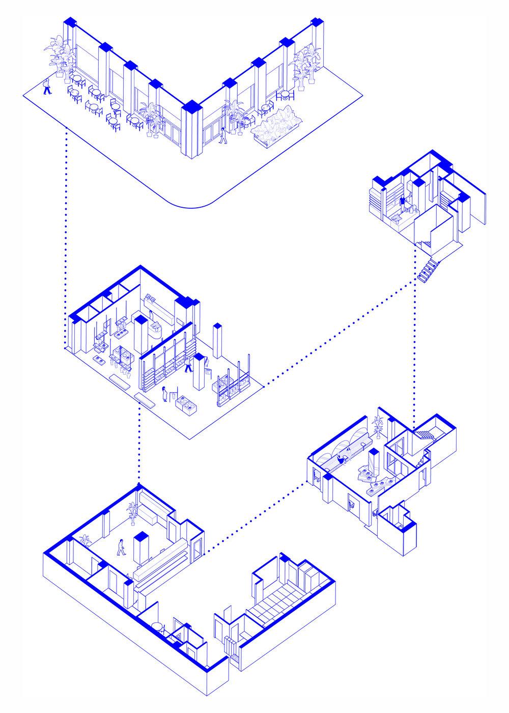 retail design axon HUXHUX