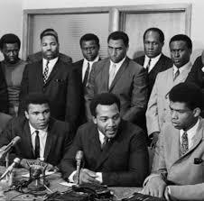 Muhammad Ali, Jim Brown and Kareem Abdul Jabbar address Civil Rights Violations and discrimination in Sports