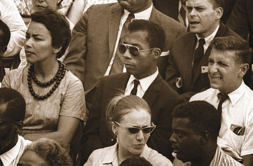James Baldwin (center) writer, social commentator, activist and humanitarian