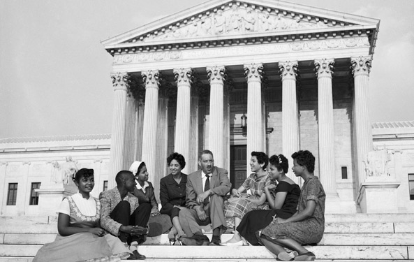 Little Rock Nine with Thurgood Marshall