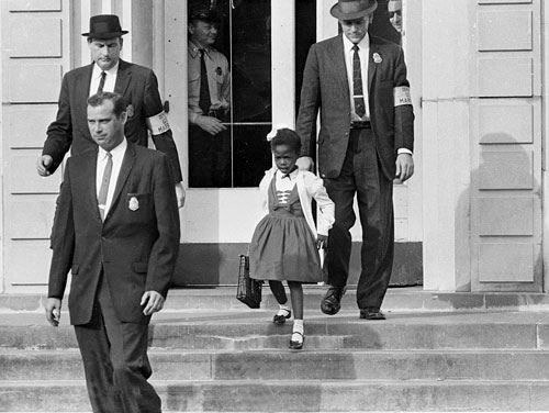 Ruby Nell Bridges Hall is an American civil rights activist. She was the first African-American child to desegregate the all-white William Frantz Elementary School in Louisiana during the New Orleans school desegregation crisis in 1960