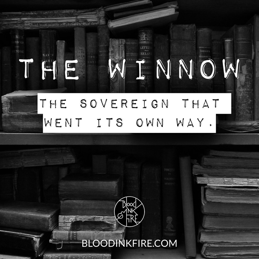 The Winnow: One of the 9 Sovereigns beyond Fell in my YA novel  Blood, Ink & Fire .
