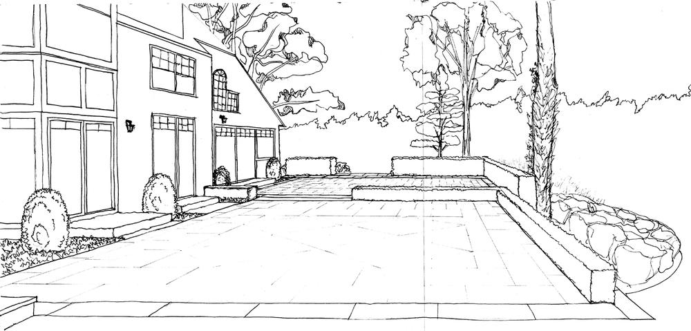 4_Cedar Knoll Back Terrace Sketch BW.jpg