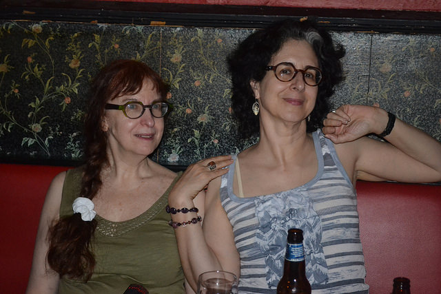 Delia Sherman and Ellen Kushner   Photo by Ellen Datlow