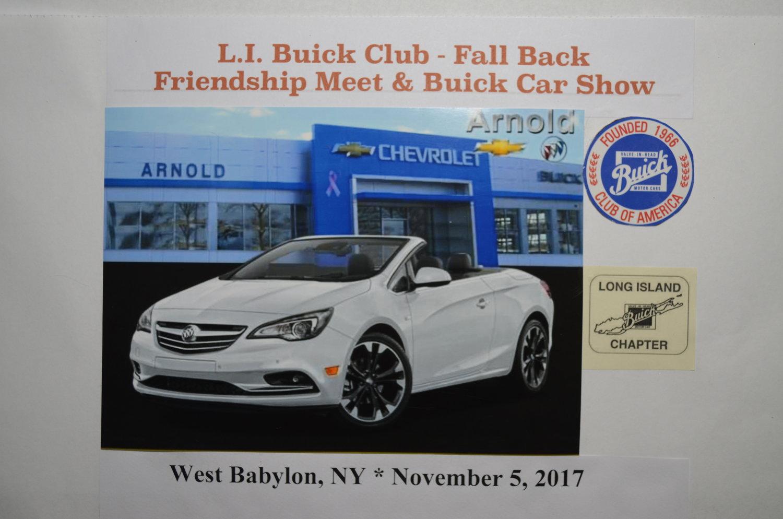 Fall Back Friendship Meet Car Show Long Island Buick Club