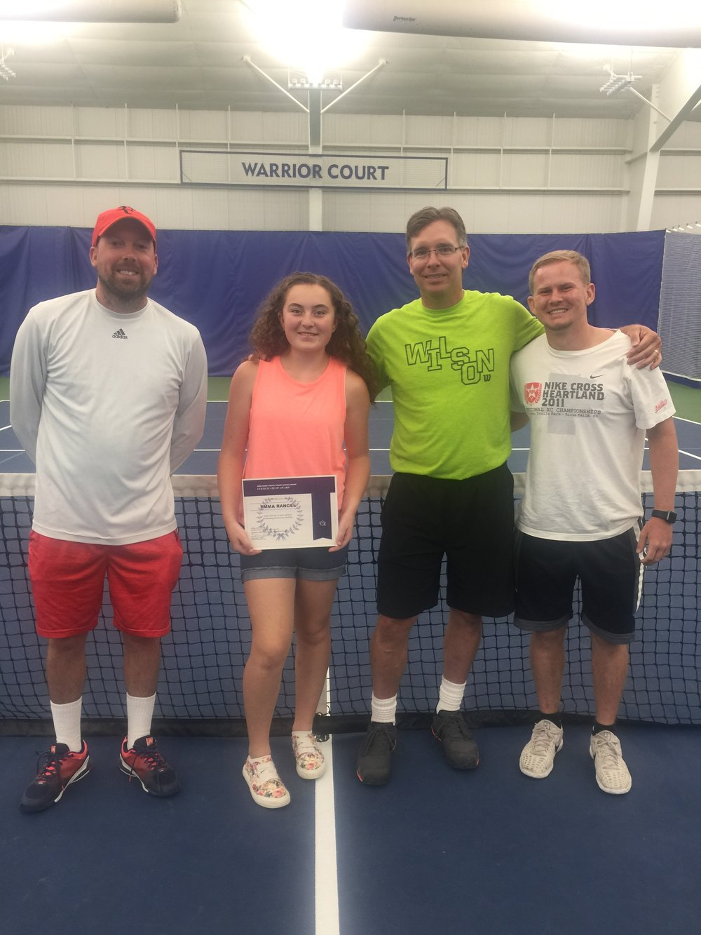 Emma Rangel Recipient of the Fall 2018 Reid Hans Memorial Scholarship awarded by Huether Family Match Pointe and  Innovative Office Solutions  &  The InSports Foundation.