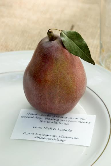 red pears on a plate