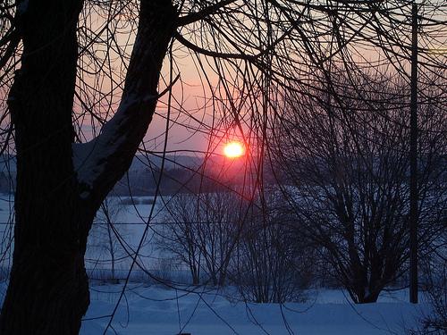 January sun rise