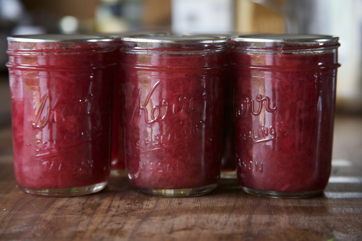 We sell our mouth watering rhubarb jam at  Mt. View Orchards  Fruit stand