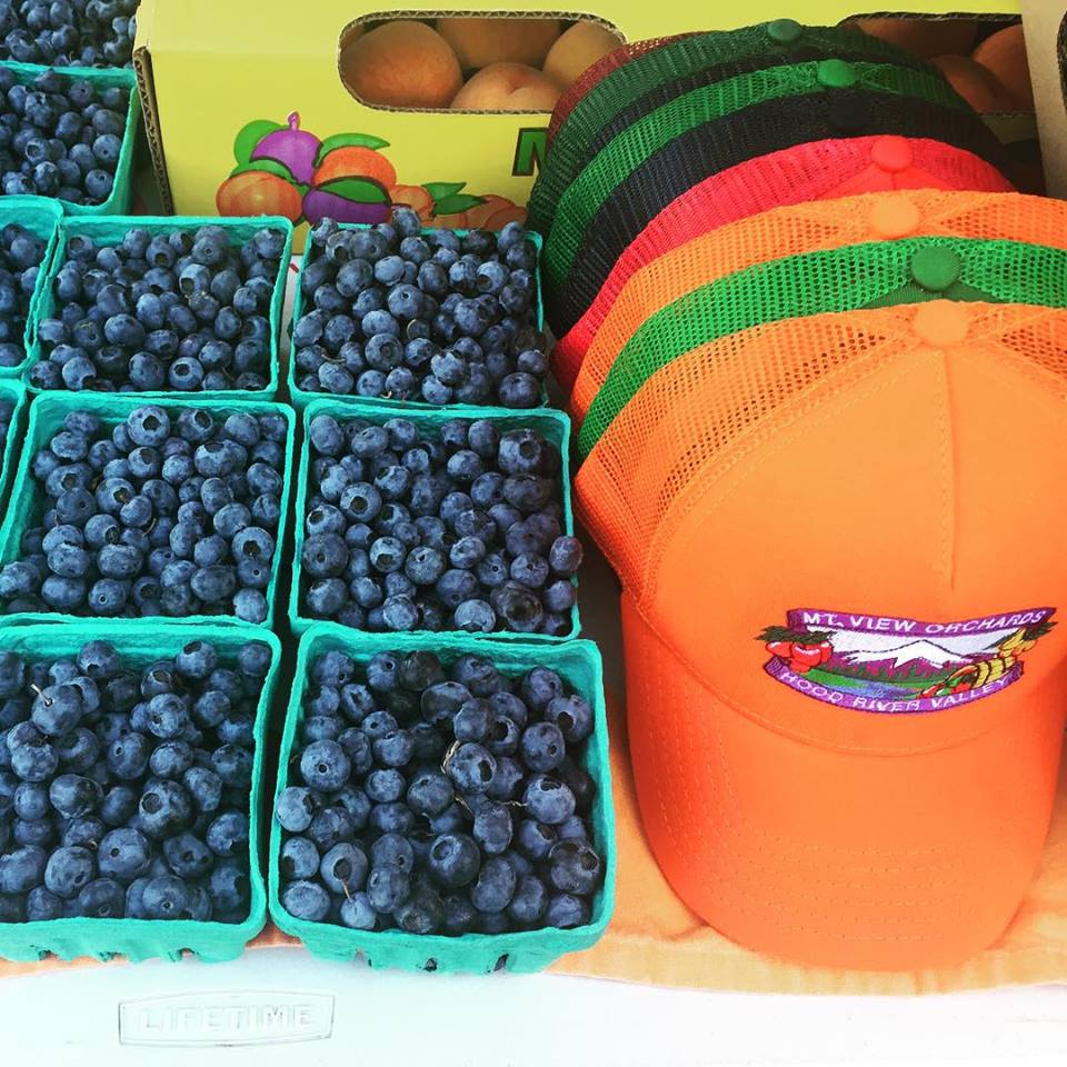 blueberries and hats