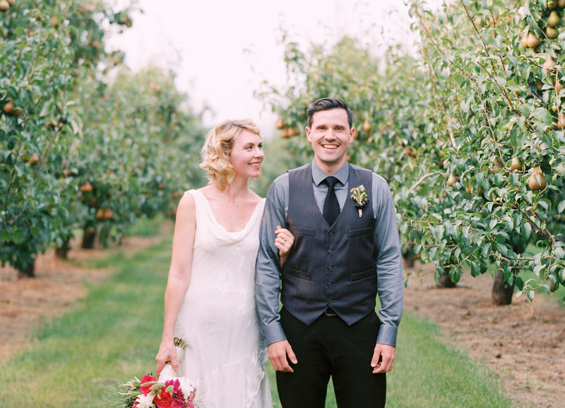 wedding picture in bosc trees