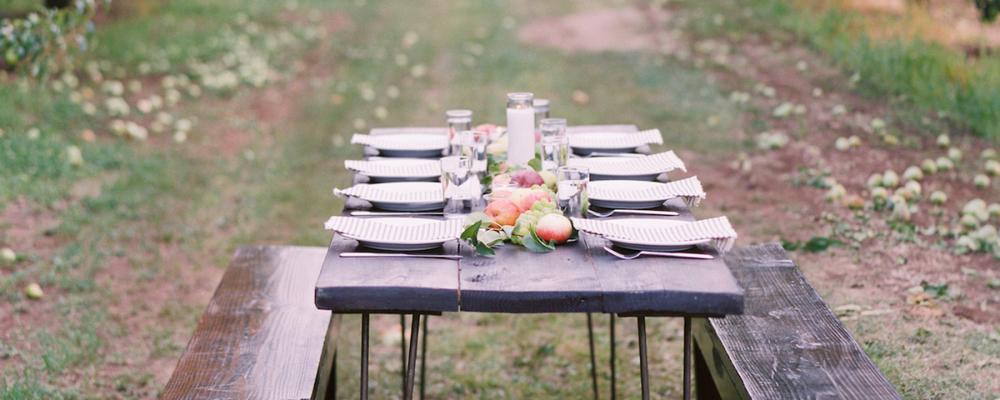 Wedding farm to table