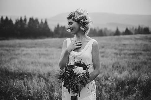 Photo by Luke and Mallory, in our orchard meadow with this stunning bride