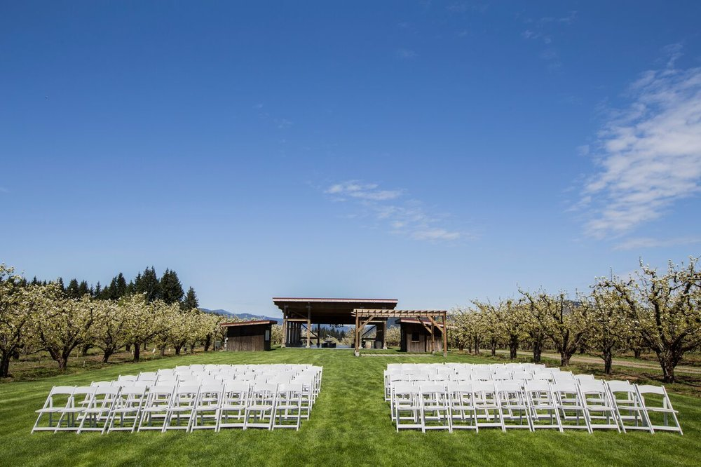 Hello ceremony seats. photo by Larvickmedia