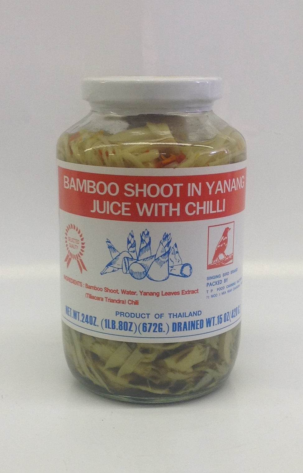 Bamboo Shoot in Yanang Juice with Chilli    Singing Bird   BBY1270 12x24 oz