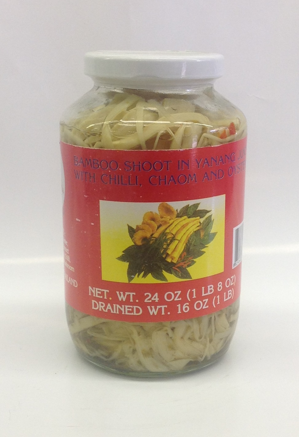 Bamboo Shoot in Yanang Juice with Chilli, Chaom, and Osyter Mushroom    Bird's    BBY1510 12x24 oz