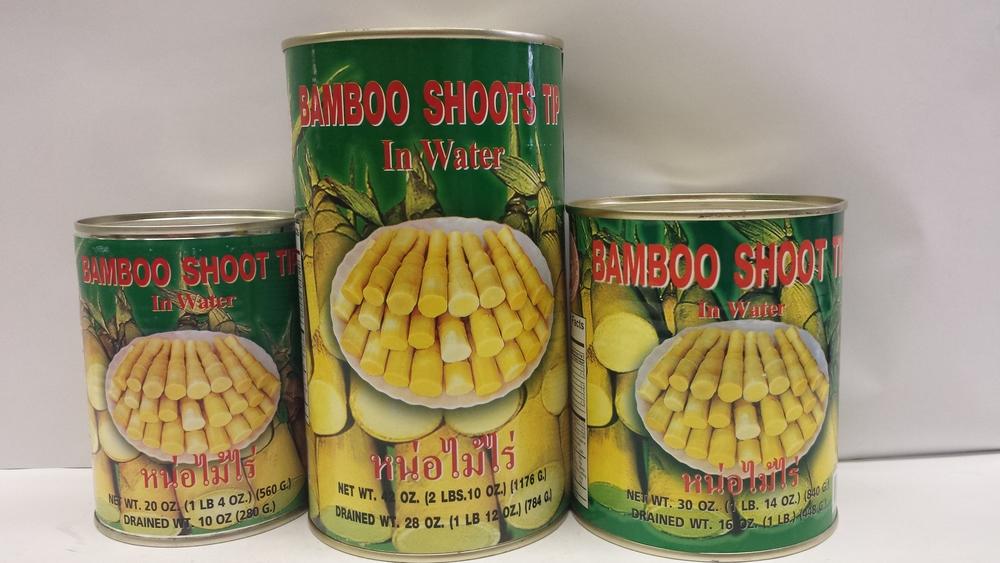 Bamboo Shoot, Tip in Water    Sumpao Boat    BBT1650 24x20 oz    BBT1652 24x30 oz    BBT1655 12x42 oz