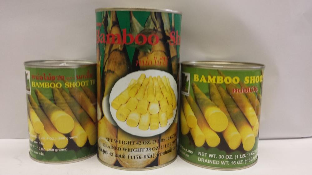 Bamboo Shoot, Tip    Singing Bird    BBT1719 12x42 oz    BBT1720 24x20 oz    BBT1721 24x30 oz    BBT1722 6x5 lbs