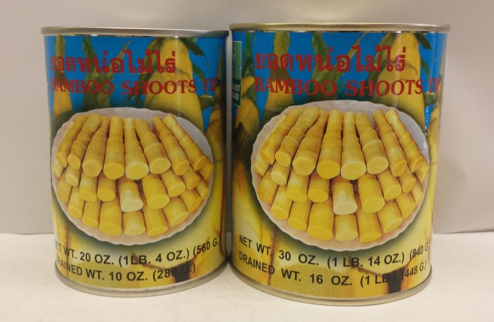 Bamboo Shoots, Tip (Blue)    Parrot    BBT1601 24x20 oz    BBT1602 24x30 oz    BBT1605 6x5 lbs
