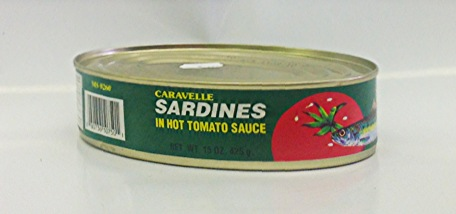 Sardines in Hot Tomato Sauce    Caravelle   MC17106 24x15 oz with Chili  MC17123 24x7 oz with Chili