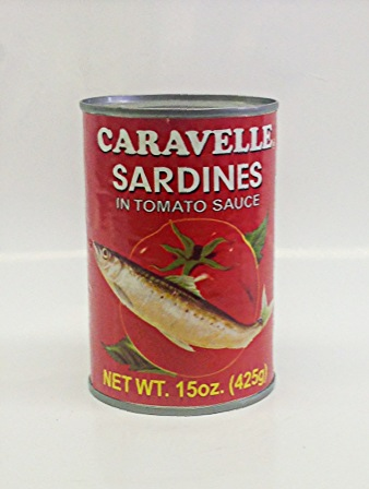 Sardines in Tomato Sauce    Caravelle   MC17113 24x15 oz  MC17114 24x15 oz with Chili