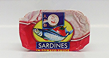 Sardines in Tomato Sauce    Sumpao Boat   MC17152 50x125 g with Club