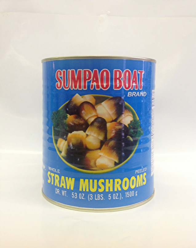 Straw Mushrooms, Whole   & Peeled    Sumpao Boat   MU17263 6xA10