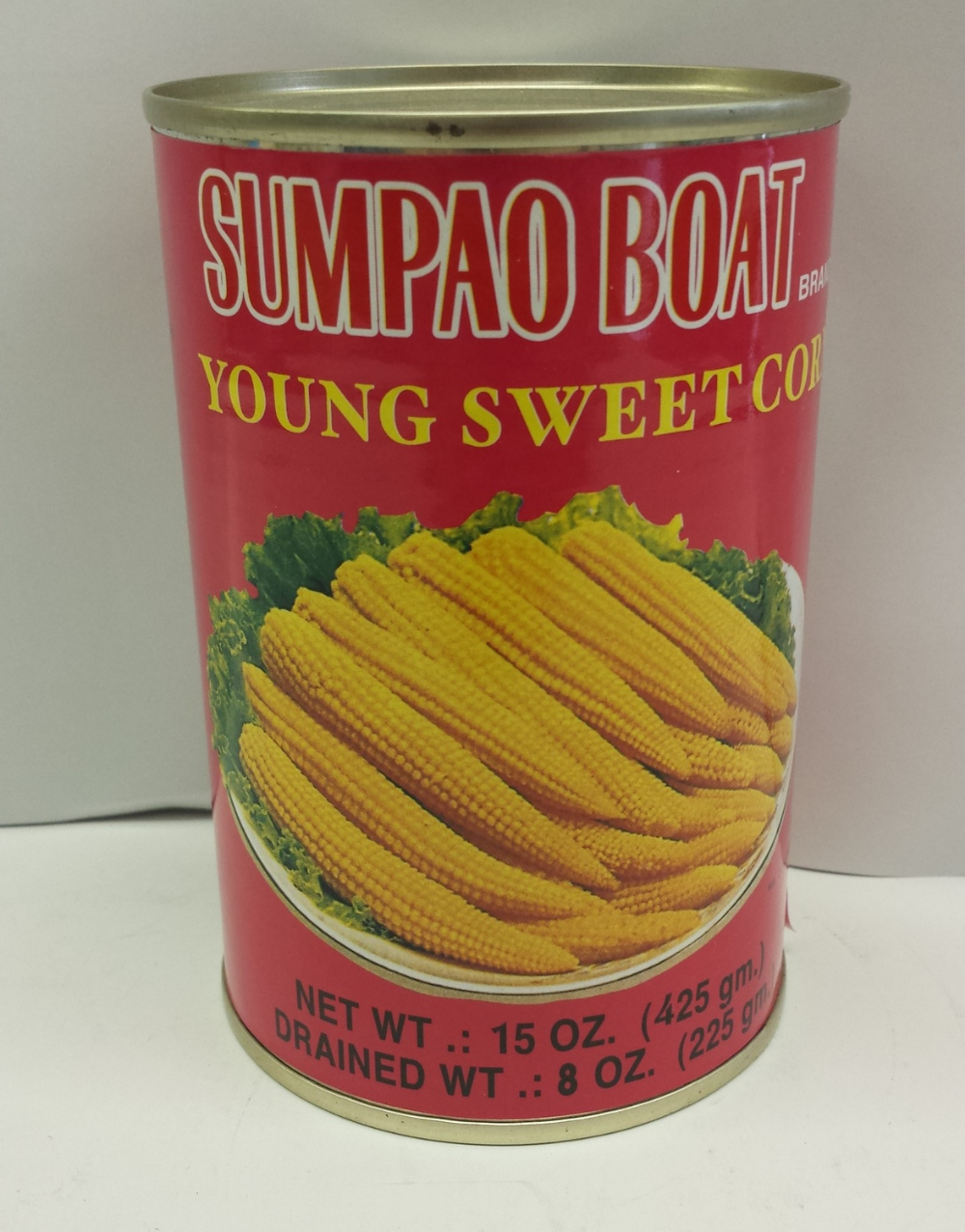 Young Sweet Corn    Sumpao Boat   VC19120 6x5 lbs  VC19125 24x15 oz  VC19127 6xA10