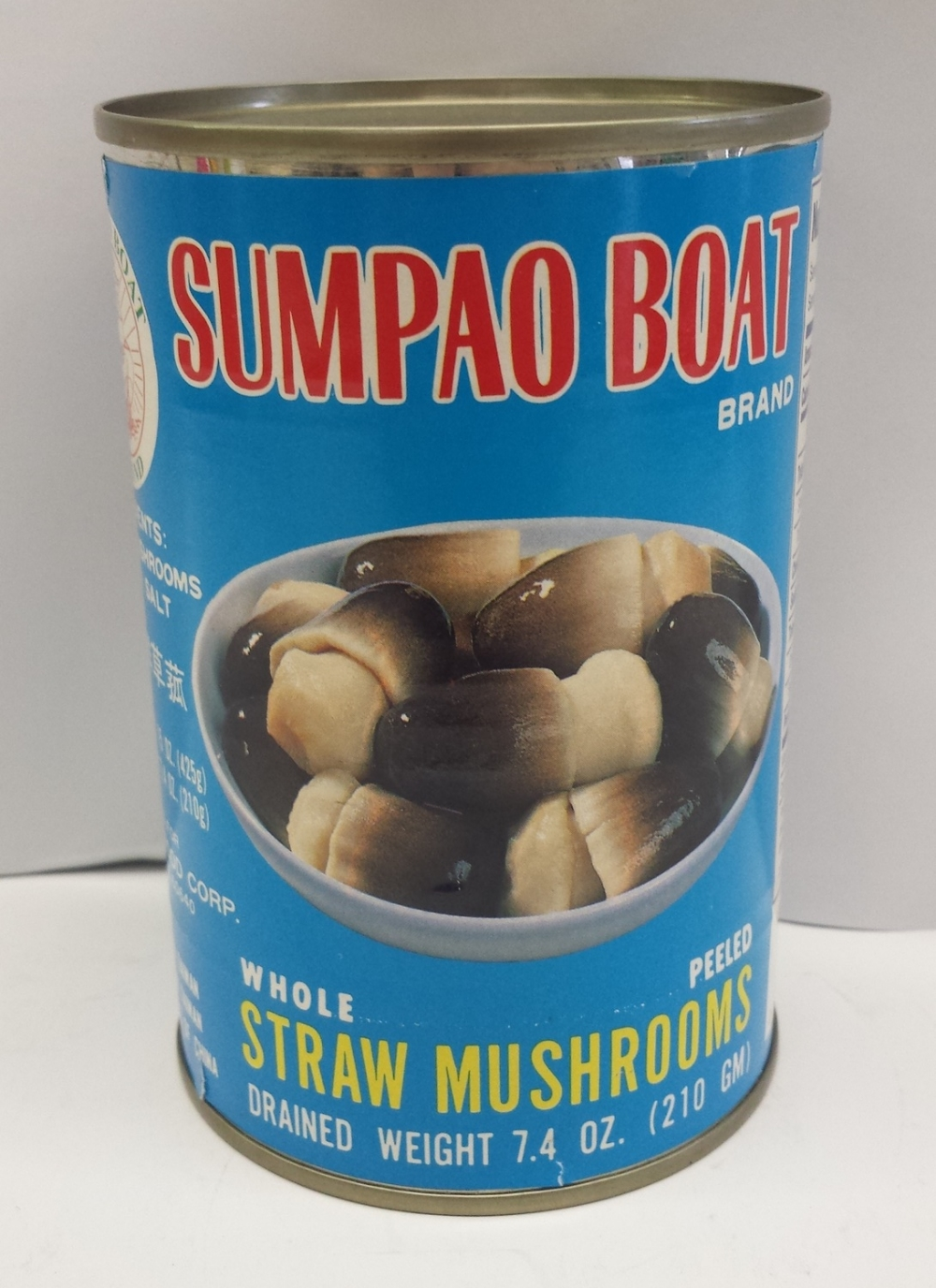 Straw Mushrooms, Whole & Peeled    Sumpao Boat   MU17261 24x15 oz