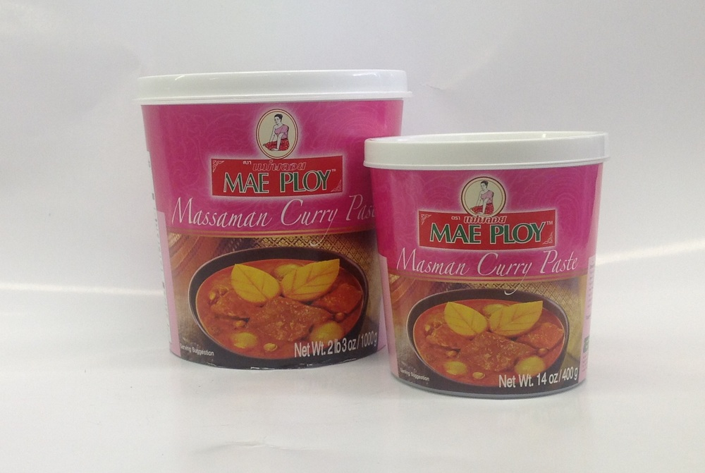 Curry Paste (Masaman)    Mae Ploy   CR16500 24x14 oz  CR16501 12x35 oz