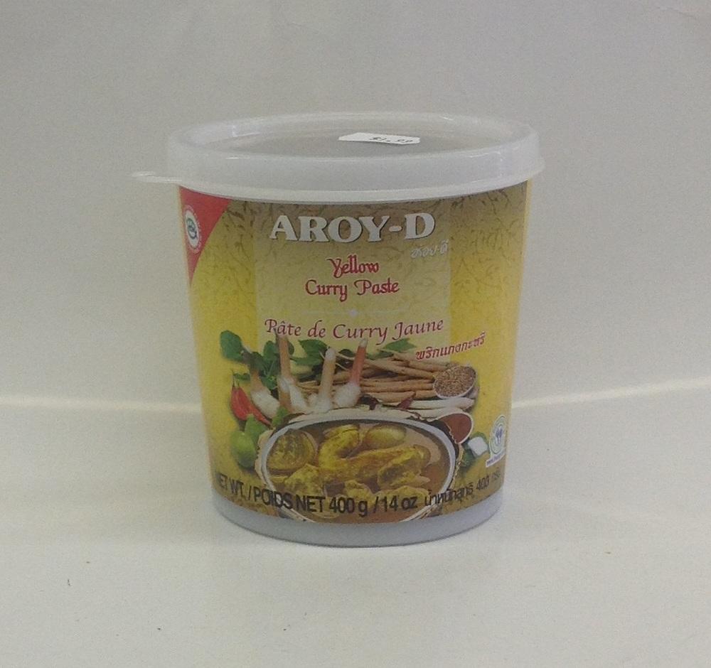 Yellow Curry Paste    น้ำพริกแกงส้ม    Aroy-D    CR16214 24x14 oz