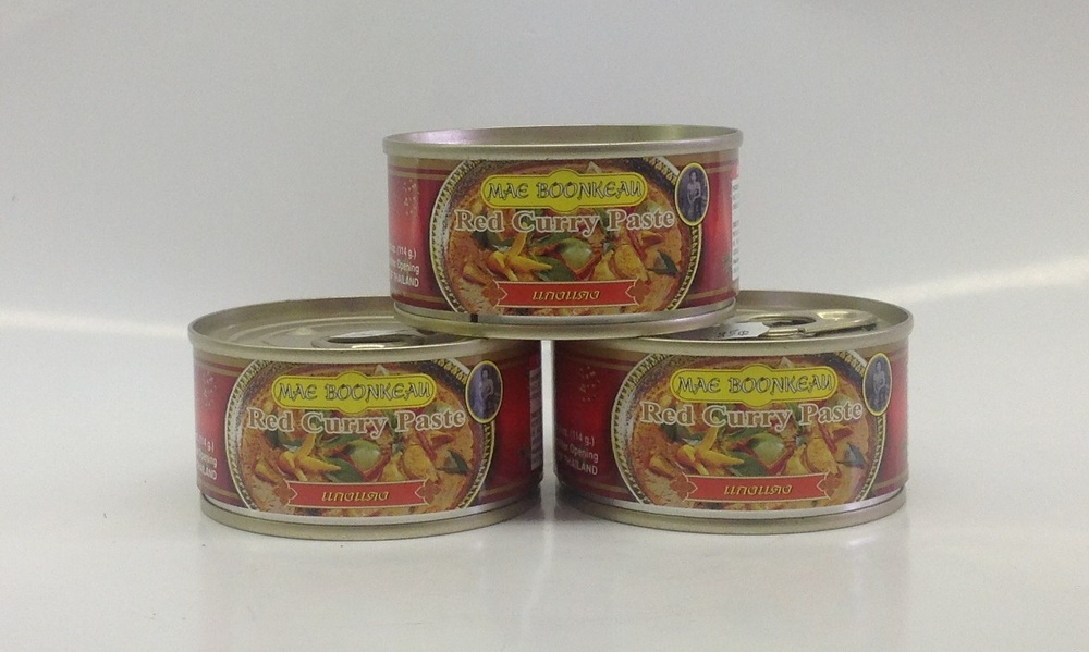 Red Curry Paste     Mae Boonkeau   CR16060 24x14 oz  CR16061 12x35 oz