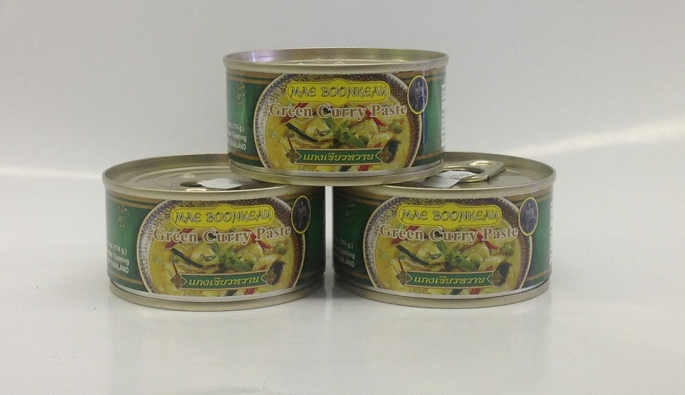 Green Curry Paste     Mae Boonkeau   CR16051 12x35 oz  CR16050 24x14 oz