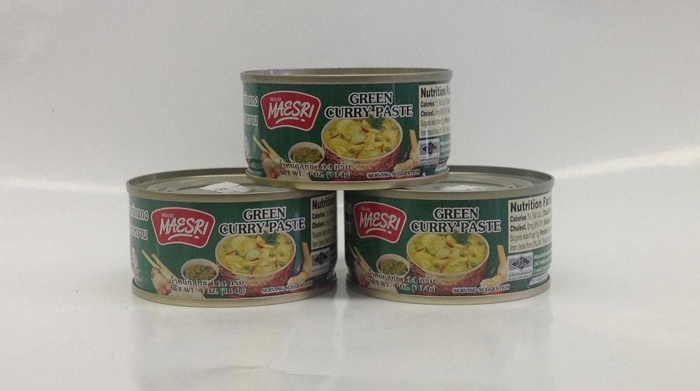 Green Curry Paste     Mae Sri   น้ำพริกแกงเขียวหวาน  CR17300 48x4 oz