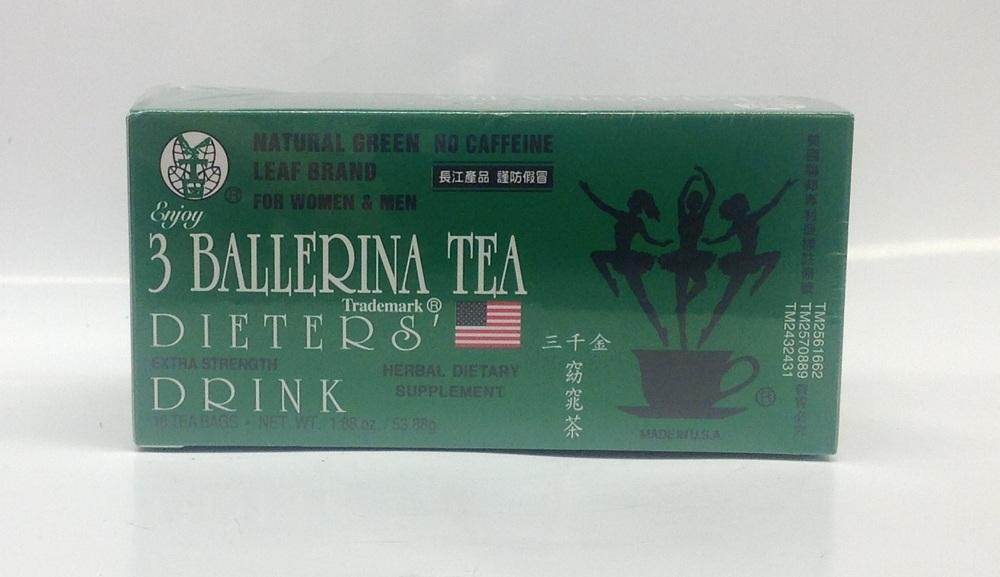 Dieters' Tea (Extra Strength)   3 Ballerina   DKT1205 36x18 bags  DKT1203 36x12 bags