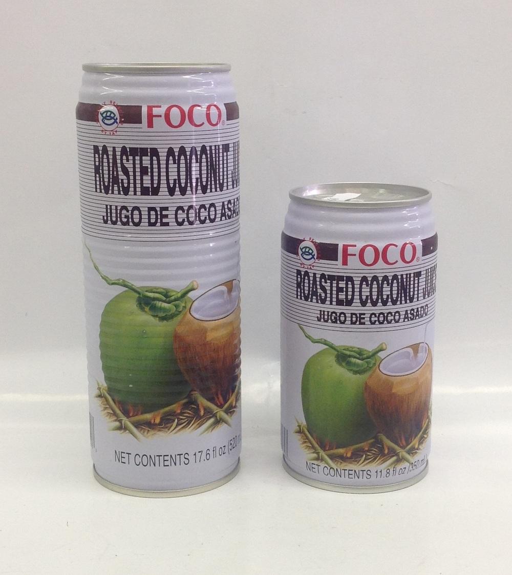 Coconut Juice (Roasted)   Foco   DK11292 24x11.8 oz  DK11293 24x17.6 oz