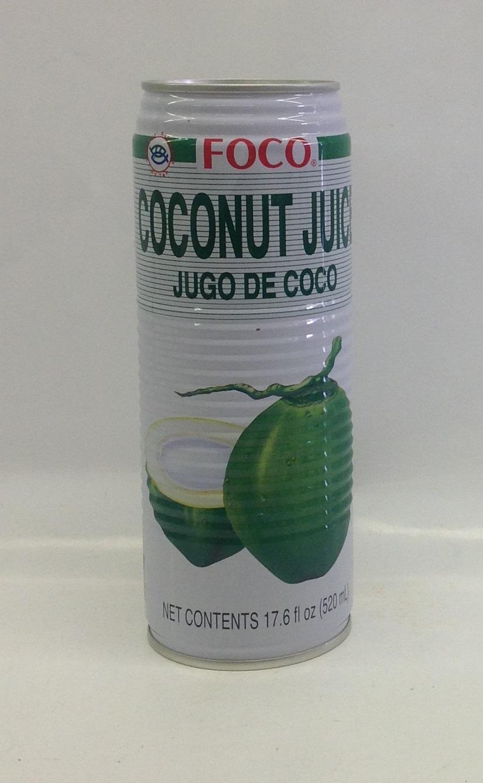 Coconut Juice   Foco   DK11290 24x18.4 oz  DK11291 24x11.8 oz
