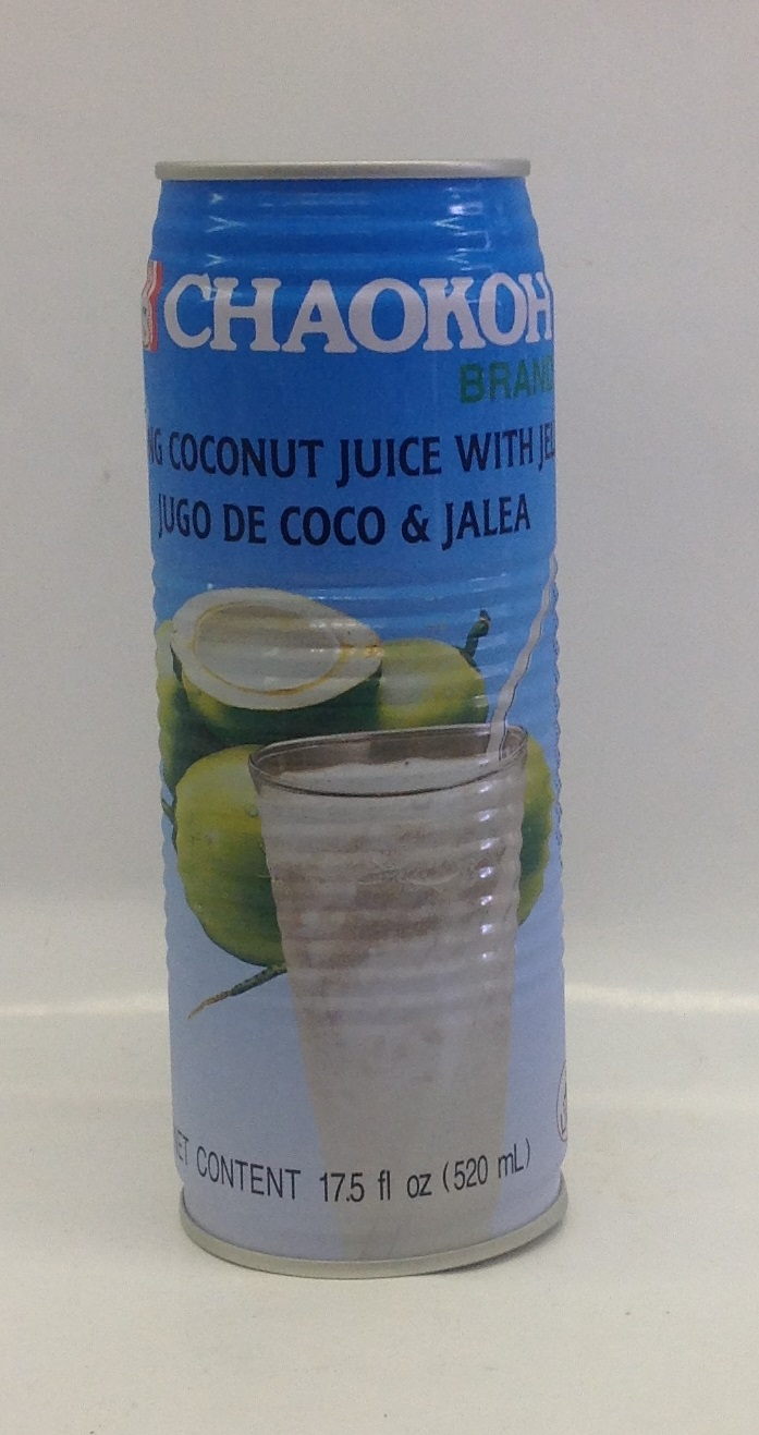 Coconut Juice w/ Jelly   Chaokoh   DK11285 24x17.5 oz  DK11287 24x11.8 oz