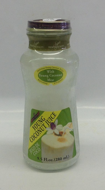 Young Coconut Juice w/ Meat   Taste Nirvana   DK19102 24x9.5 oz