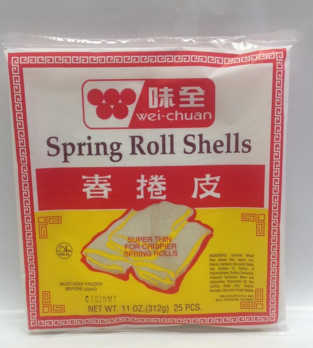 Frozen Spring Roll Skin   Wei Chuan   FZ17166 40x25 pieces