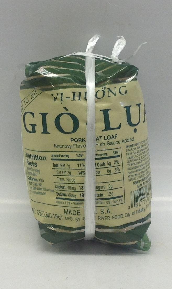 Frozen Gio-Lua (Pork Loaf)   Vi-Huong   FZM3115 20x16 oz