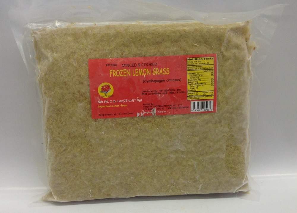 Frozen Lemon Grass (Sa Bam), Chopped   Lotus   FZV4270 15x35 oz