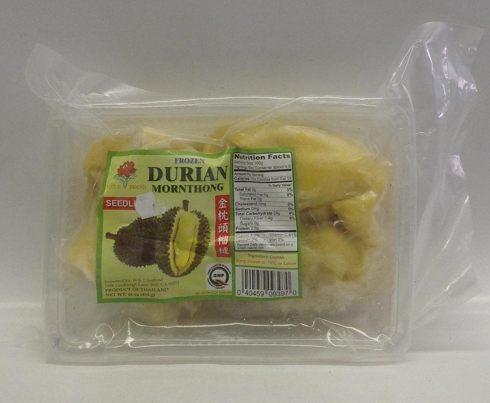 Frozen Durian, Seedless   Lotus   FZV2134 30x16 oz