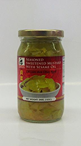 Seasoned Sweetened Mustard w/ Sesame Oil   Lin Lin   PK17106 24x12 oz