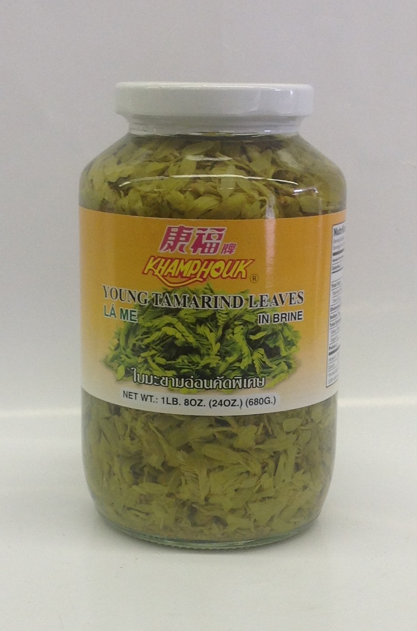Pickled Young Tamarind Leaves   Khum Phouk   PK17206 12x24 oz