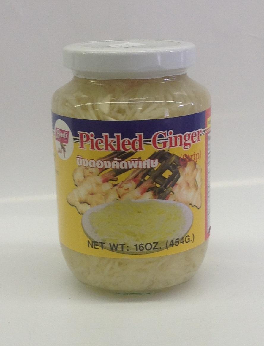 Pickled Ginger, Strip   Bird's   PK13102 24x16 oz